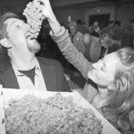 Stacey Metulynsky feeds Sean Moher Grapes